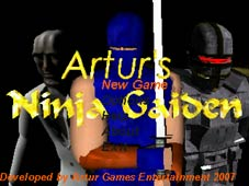 Ninja Gaiden Beta title screen